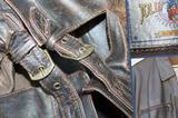 Куртка пилот бомбер кожа - винтаж Италия 46 - 48